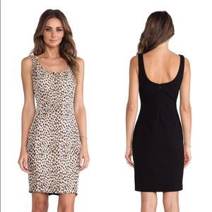 New DVF Arianna Leopard Bodycon Dress Caramel 10